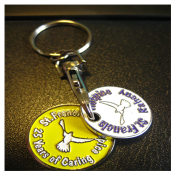 Double Trolley Disc Key Ring