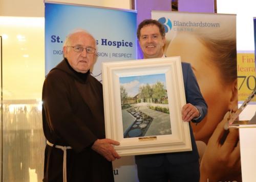 Fr Dan Joe O'Mahony with Fintan Fagan, CEO, St Francis Hospice Dublin