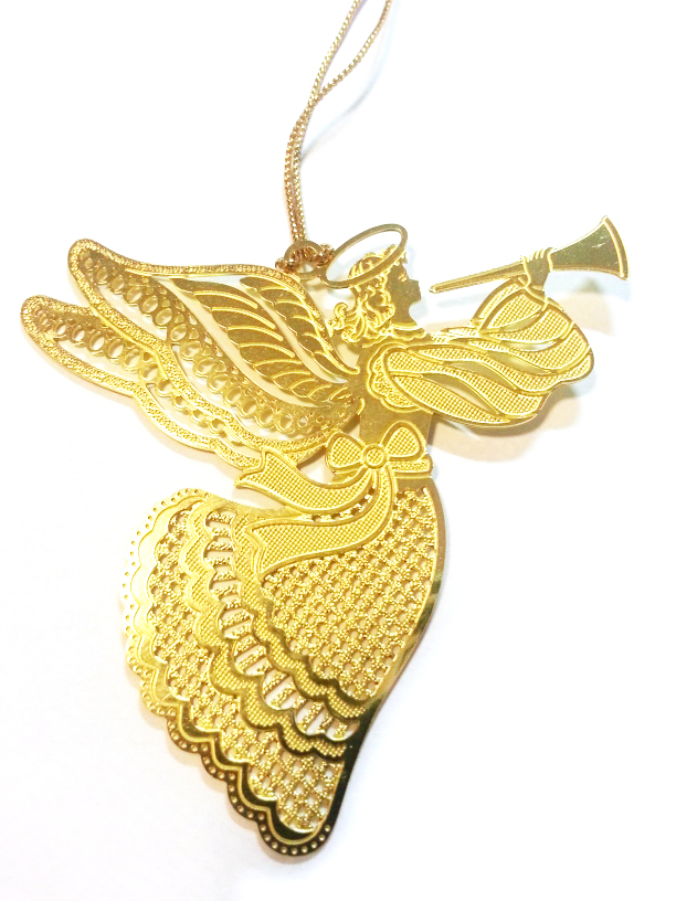 Gold Filigree Angel Decoration