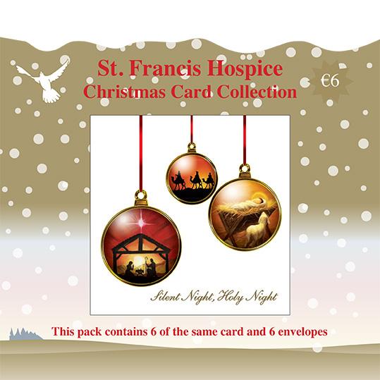 Christmas Card Nativity (6 cards) Gold