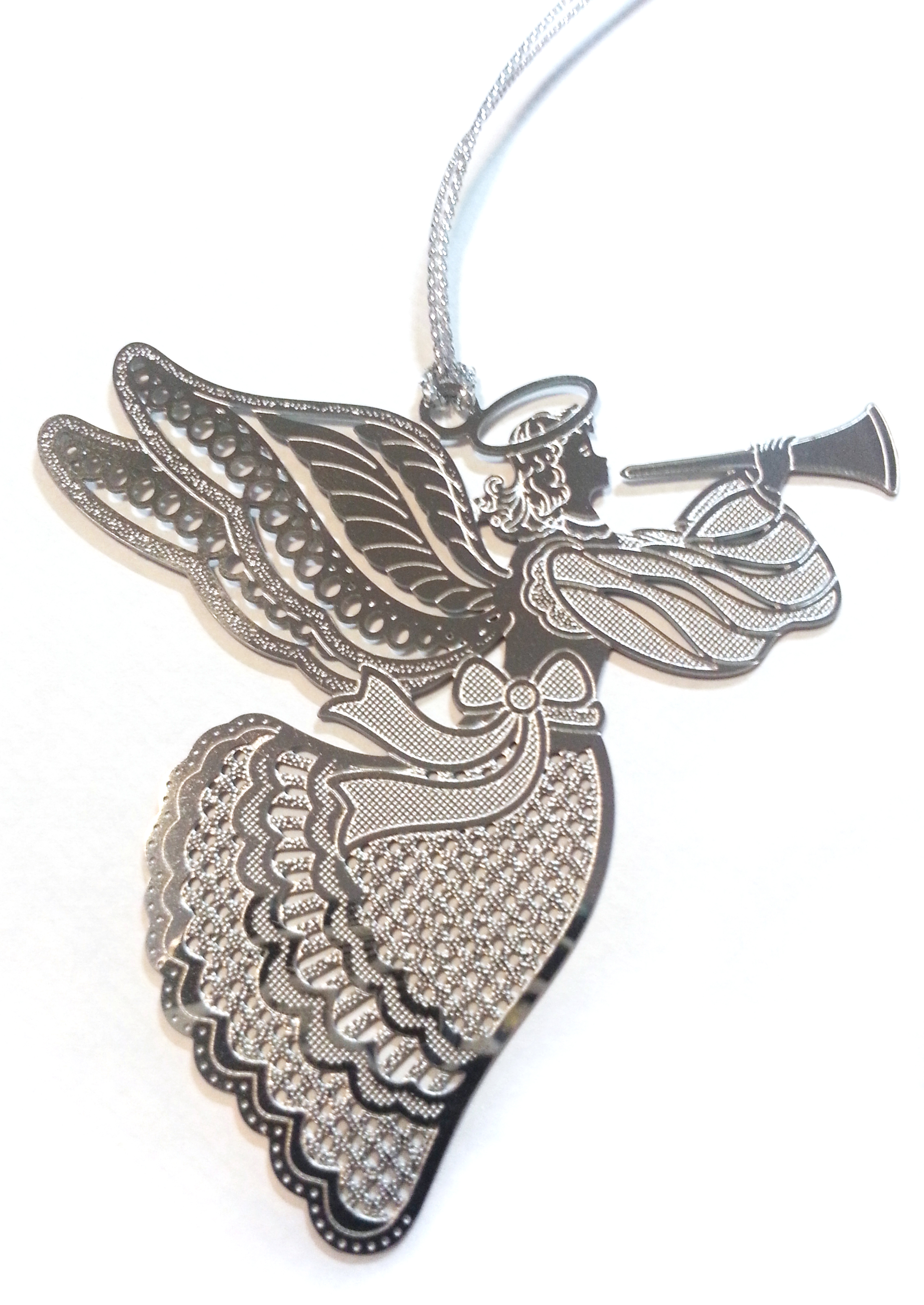 Silver Filigree Angel Tree Decoration