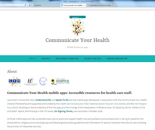 New Website for Communicate Your Health Apps